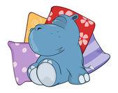 Little hippopotamus. — Stock Vector