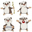 Panda clip art cartoon set — Stock Vector #59290729