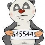 Panda prisoner — Stock Vector #59290773