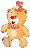 Stuffed toy bear cub cartoon — Stock Vector