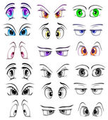 Complete set of the drawn eyes — Vector de stock
