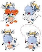 Happy cows. — Stock Vector
