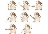 Guinea pig cartoon — Stock Vector