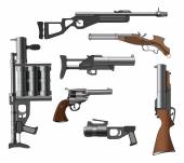 Military weapon set — Stock Vector