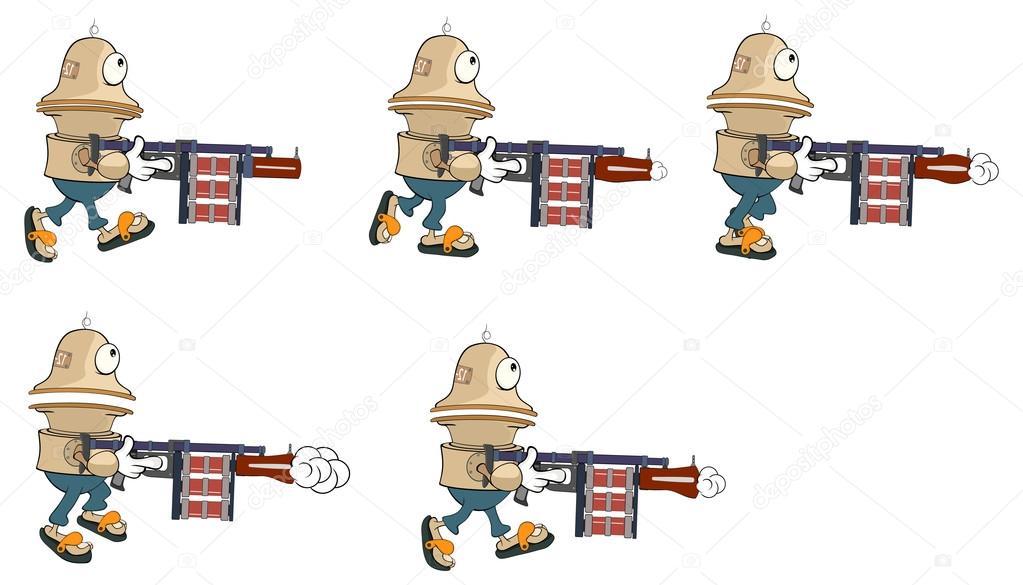 卡通人物可爱机器人的电脑游戏