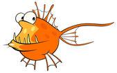 Cartoon Deep-water fish — Wektor stockowy