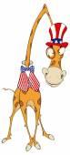 Kreskówka żyrafa — Wektor stockowy