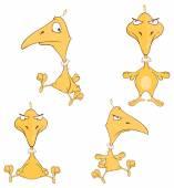 Cartoon yellow birds — Stock Vector