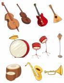 Cartoon musical icons — Stock Vector