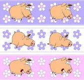 Rolig tecknad svin — Stockvektor
