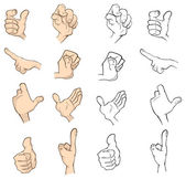 Hand gestures set — Stock Vector