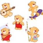 Toy bear set — Stock Vector #72752487