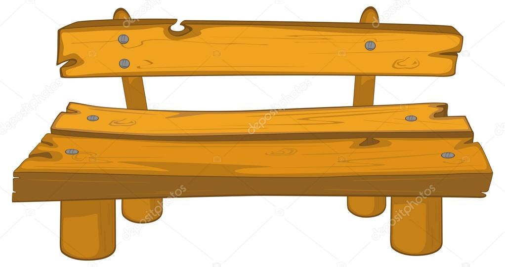 Banco de madera de dibujos animados archivo im genes - Fotos de bancos para sentarse ...