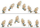 Cartoon character cute robots — Stock Vector