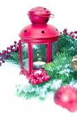 Christmas and New Year Decorations isolated  — Stock Photo