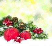 Dekoracje na boże narodzenie i nowy rok — Zdjęcie stockowe