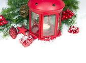 孤立的圣诞节和新年装饰品 — 图库照片