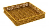 Empty brown whicker basket — Stock Photo