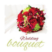 Vector wedding bouquet — Stock Vector