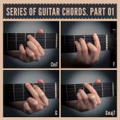 Guitar chords — Stock Photo