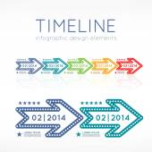 Timeline infographic — Stock Vector