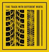 Tire tracks — Stock Vector