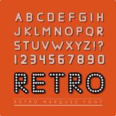 Retro marquee font — Stock vektor