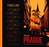 Prague city — Vector de stock