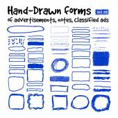 Hand-drawn forms — Stock Vector