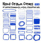Hand-drawn forms — Stockvektor
