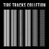 Tire track collection — Stok Vektör