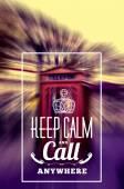 Keep Call Phone Box — 图库矢量图片
