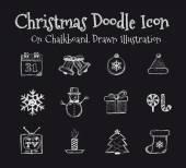 Christmas Drawn — Stock Vector