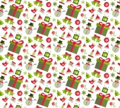 Seamless pattern with Christmas elements — Stok Vektör