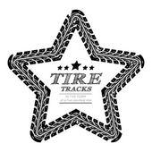 Tire tracks frame — Vecteur