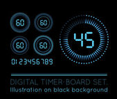 Digital Countdown Timer — Stock Vector