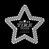 Tire tracks frame — Stock Vector