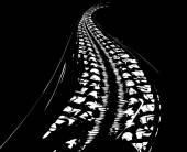 Tire tracks background — Stock Vector