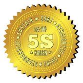 5S methodology kaizen management from japan — Stock Vector