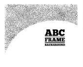 Frame gemaakt uit de brieven van verschillende grootte — Stockvector