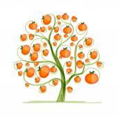 Mandarin tree for your design — Stock Vector