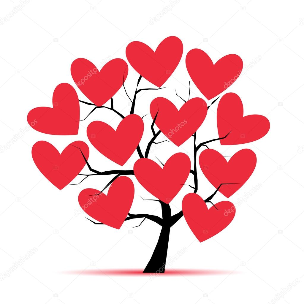 Stock Illustration Love Tree With Hearts For on arbol genealogico