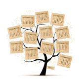 Calendar tree 2015 for your design — Stock Vector