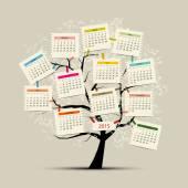 Calendar tree 2015 for your design — Stock Vector