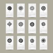 Rejilla calendario 2015 para su diseño, ornamento de la etnia — Vector de stock