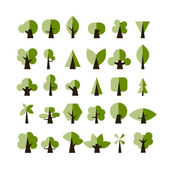 Set of green tree icons for your design — Vetorial Stock