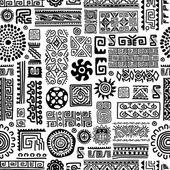 Ethnic handmade ornament, seamless pattern for your design — Stock Vector