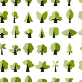 Green trees, seamless pattern for your design — Stock Vector
