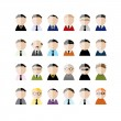Set of business men peoples icons, cartoon for your design — Stock Vector #56717533