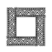 Frame with ethnic handmade ornament for your design — Stock Vector